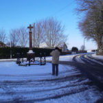 War Memorial in the snow.