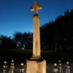 Hollinfare War memorial gently up-lit - November 2018.