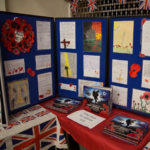 Display from local school children from St. Helen's School - Commemoration Evening - 10th November 2018.