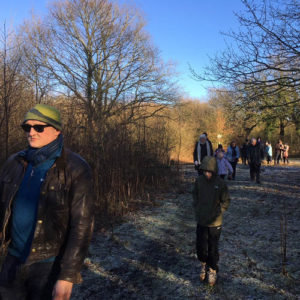 Frosty morning guided Winter walk through Rixton Claypits - 7th Jan 2018.