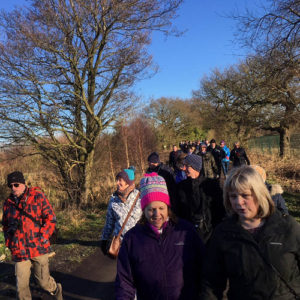 New Year guided walk over Rixton Moss - 7th Jan 2018.