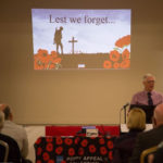 Shine the Light committee member Keith Thompson introducing the 100yr Commemoration Evening - 10th November 2018.