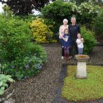 Organiser Mandy in her garden - 2019.