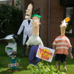 Phineas and Ferb scarecrows - 2013.