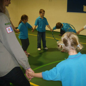 Beavers group activities in the Scout Centre.