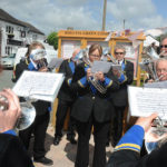 Cadishead Band join in the shops celebration of being in operation for 12 months - Feb 2016.