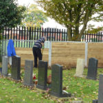 Compost bays, funded by Warrington Voluntary Action Grassroots Grant and installed October 2015, are fully utilised by the Friends to recycle the Autumn leaf fall.