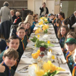 Cubs enjoying a breakfast at Civic Sunday held at the hall