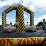 Demolition Zone, popular with children, Carnival 2015.