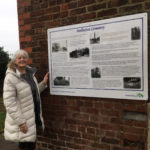Heritage Board telling the history of the cemetery - installed February 2019.