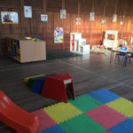 Large indoor play space allowing freedom to move and independant choices.