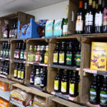 The shop stocks a range of wines and spirits.
