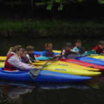 Cubs learn some canoeing skills at Grappenhall - June 2013.