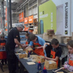 Cubs enjoying a practical workshop at B & Q - April 2013.