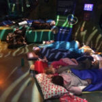 Cubs on a sleepover at Sealife.