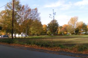 Autumn scene looking across farmland in Hollins Green
