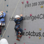 Climbing wall at the Parish Carnival - June 2015