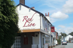 Red Lion Pub on Manchester Road, Hollins Green