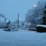 School Lane, Hollins Green under snow - January 2010