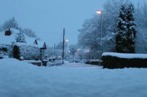 School Lane, Hollins Green under snow - January 2010