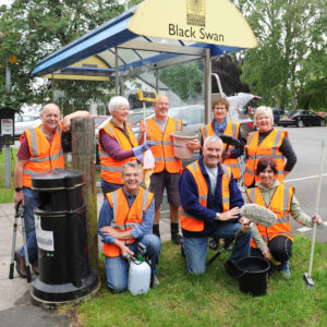 Community Plan sign cleaning action day - Hollins Green - 1st June 2019.